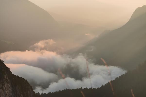 impression sur toile - paysage montagneux